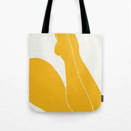 Nude in yellow 3 Tote Bag