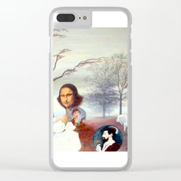 Mona Lisa and Friends Clear iPhone Case