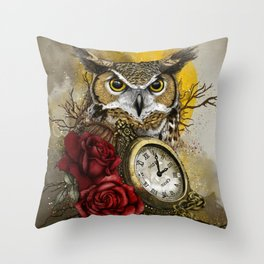 Time is Wise Throw Pillow