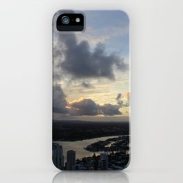 Golden sunsets iPhone Case