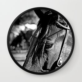 Horse-1-B&W Wall Clock
