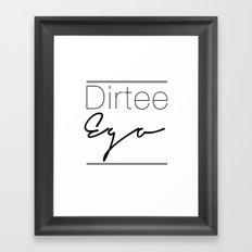 Dirt. Framed Art Print