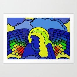 GALGALIEL the blue angel of vibrations Art Print