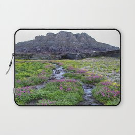 Mountain Wildflowers Lined Stream Laptop Sleeve