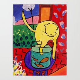 Cat with Red Fish- Henri Matisse Poster