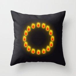 Burnin' Ring-O-Fire Throw Pillow