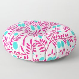 Olive Branches – Pink Ombré & Turquoise Floor Pillow