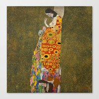 gustav klimt Canvas Prints featuring Gustav Klimt - Hope, II by ArtMasters
