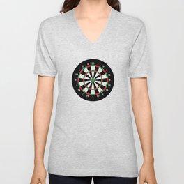 darts game board classic target  Unisex V-Neck