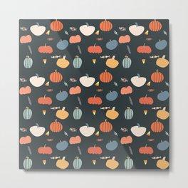 PumpkinPattern Metal Print