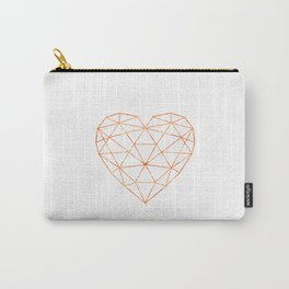 COPPER HEART (WHITE) Carry-All Pouch