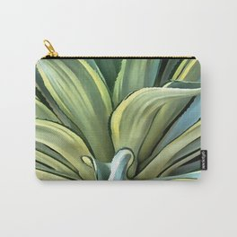 Tropical Agave Carry-All Pouch