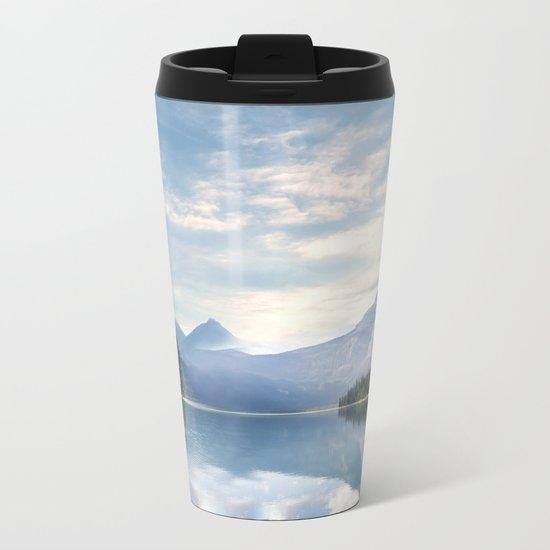 Wanderlust - Mountains, Lake, Forest Metal Travel Mug