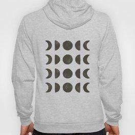 Moon Phases - Black on Cream Hoody