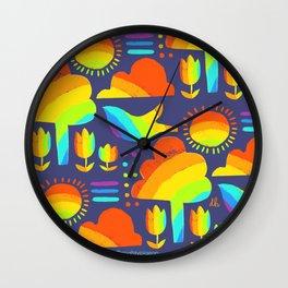 rainbow town Wall Clock