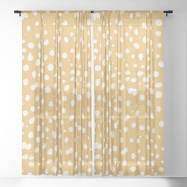 LEOPARD YELLOW Sheer Curtain