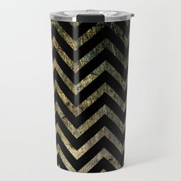 Brass Chevrons Travel Mug