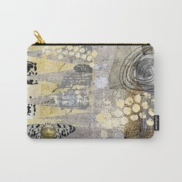 Grey Day Abstract Art Collage Carry-All Pouch
