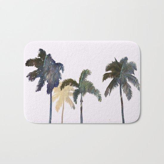 Palm trees watercolor Bath Mat