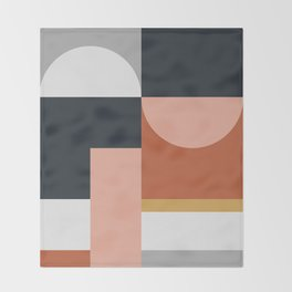 Abstract Geometric 09 Throw Blanket