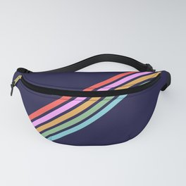 Bathala - Minimal Classic 80s Style Graphic Design Stripes Fanny Pack