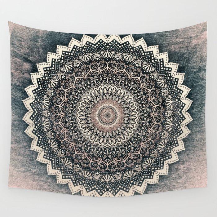WARM WINTER MANDALA Wall Tapestry