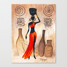 African red Canvas Print