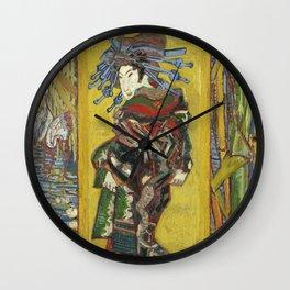 Courtesan (after Eisen) - Van Gogh Wall Clock