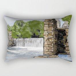 Boshell Mill's Remains Rectangular Pillow
