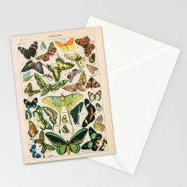 Vintage Butterfly Print Stationery Cards