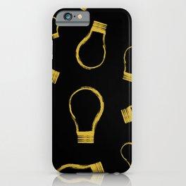 Light Bulb Gold iPhone Case