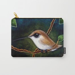TINY ALLAN HUMMINGBIRD PAINTING Carry-All Pouch