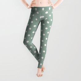 Pattern of the golden days polka dot design Leggings