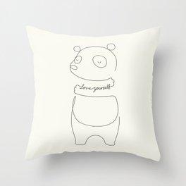 Love Yourself Panda Throw Pillow