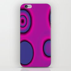 pink and purple circles abstract iPhone & iPod Skin
