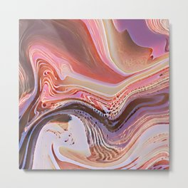 Pastel Cascade Abstract Metal Print