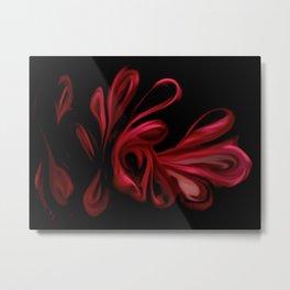 Red Velvet Ribbons Metal Print