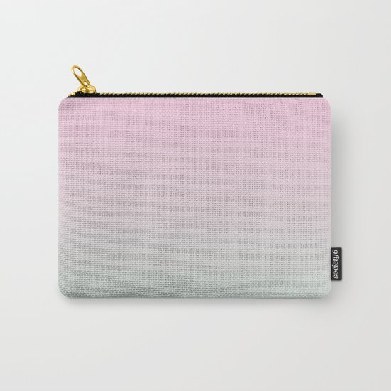 Keelee - ombre pastels minimal canvas art painting sunset nursery baby room art Carry-All Pouch