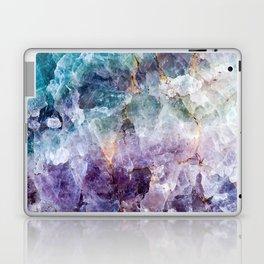 Turquoise & Purple Quartz Crystal Laptop & iPad Skin