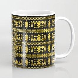 Gold  Aztec Inca Mayan Mask Coffee Mug