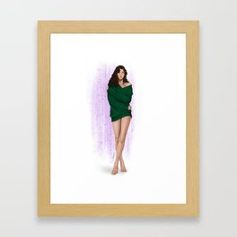 the green sweater part 2 Framed Art Print