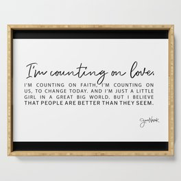 Counting on Love - Love Lyrics - Love Quote - Jess Novak Band Print Serving Tray