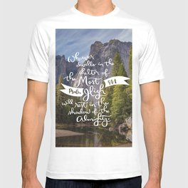 Psalm 91 with Background T-shirt