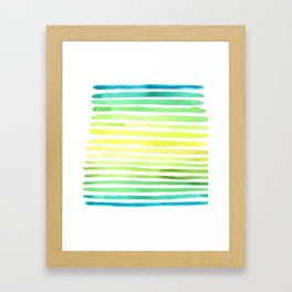 Horizontal Yikes Stripes! Framed Art Print