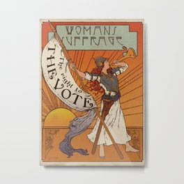 Women's Suffrage - The Right To The Vote Metal Print
