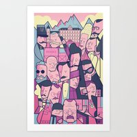 budapest hotel Art Prints featuring Grand Hotel by Ale Giorgini
