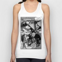 infamous Tank Tops featuring  Bird of Steel Comix – #8 of 8  - (Society 6 POP-ART COLLECTION SERIES) by Tex Watt