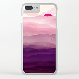 Ultra Violet Day Clear iPhone Case