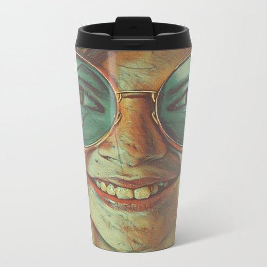 Face With Tears of Joy Metal Travel Mug