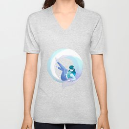 Kitty-Hoops Unisex V-Neck